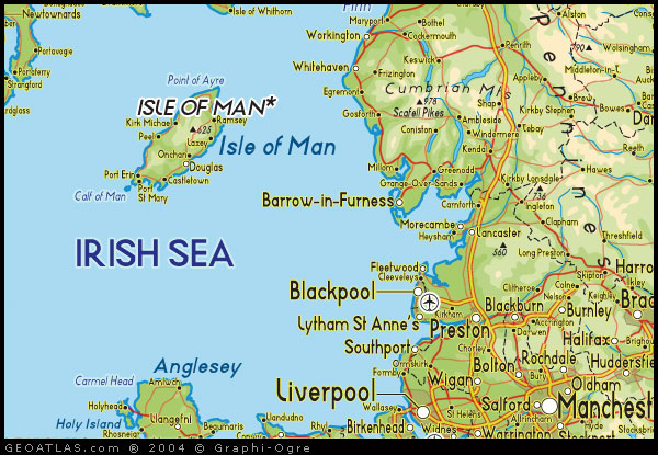 Map Of Isle Of Man UK Map UK Atlas - Isle of man map