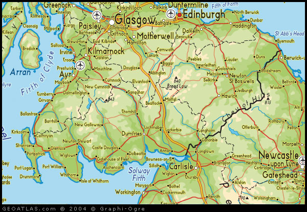 Map of scottish borders scotland map map of scottish borders map scotland gumiabroncs Choice Image