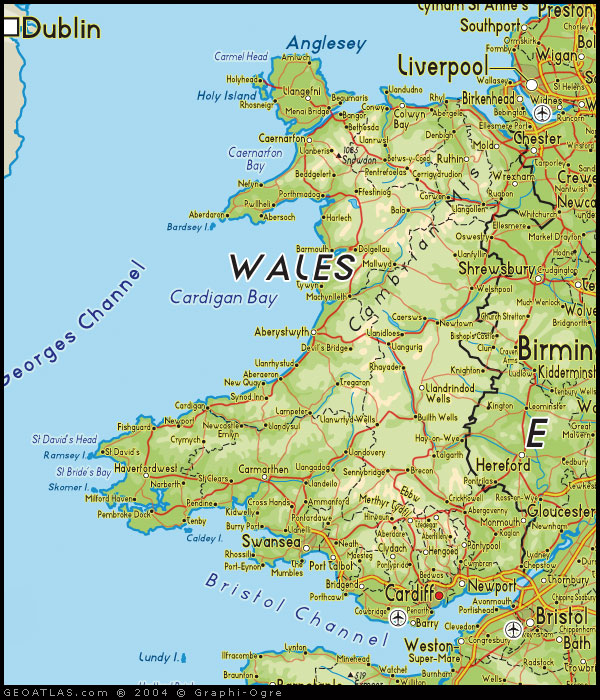 Map of Wales map UK Atlas