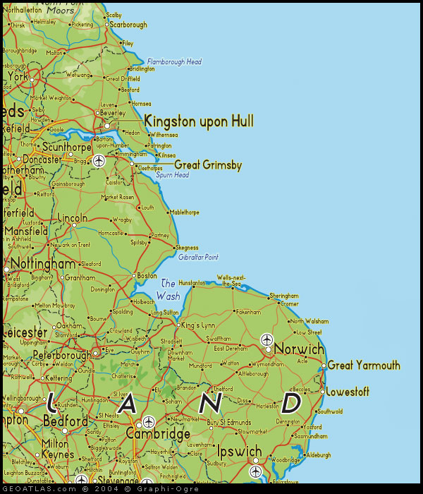 Map Of East Uk.Map Of North East Engand Uk Map Uk Atlas