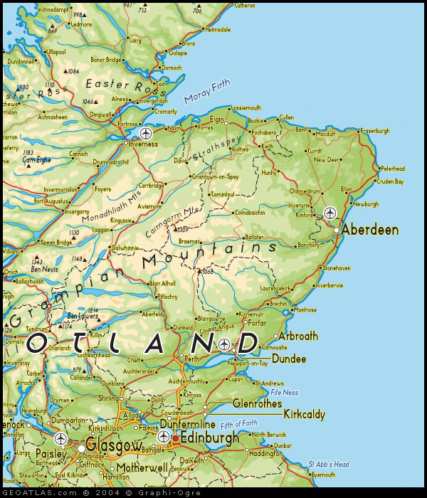 Map Of North England And Scotland.Map Of North East Scotland Uk Map Uk Atlas